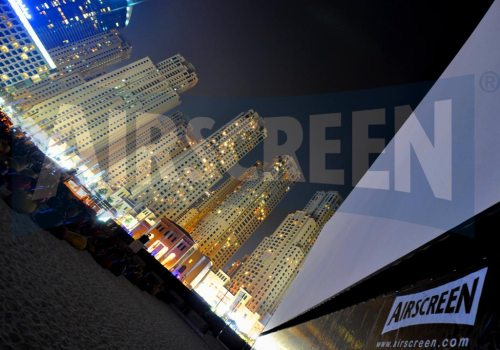 Open air cinema at Jumeirah Beach, Dubai