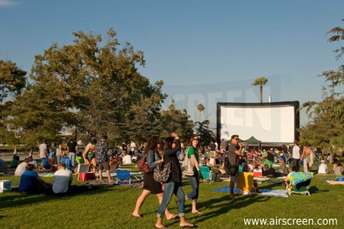 Outdoor movies at a public park