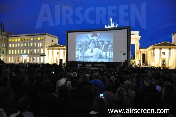 inflatable movie screen in Berlin