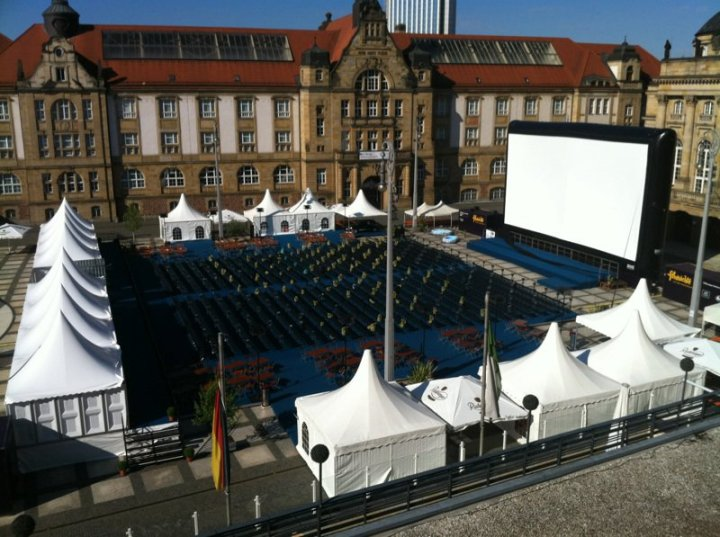 66 ft. wide mobile cinema screen in Chemnitz, Germany