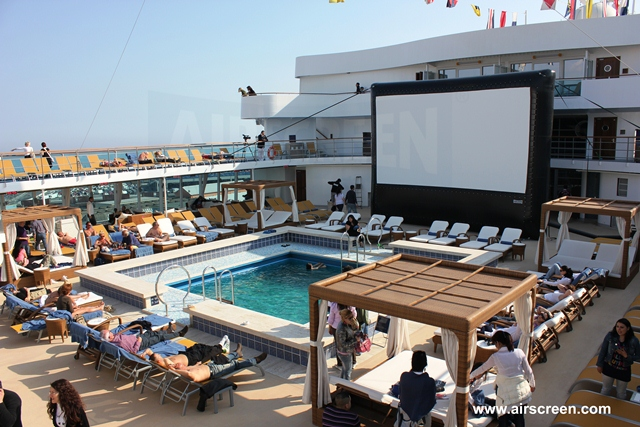 Open-Air-cinema on the high seas