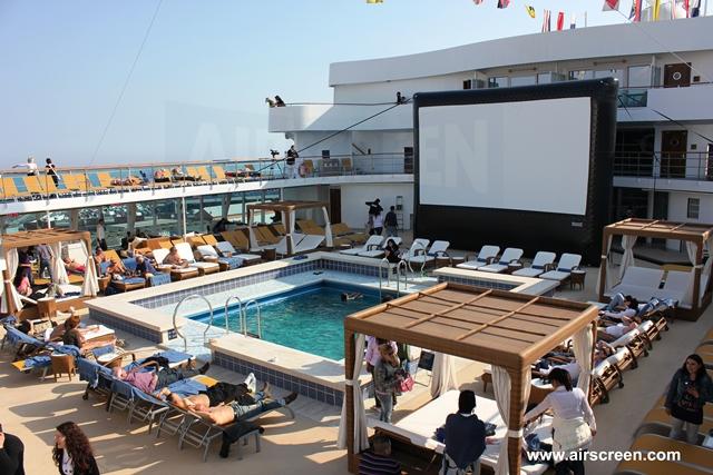 Open-Air-cinema on the high seas