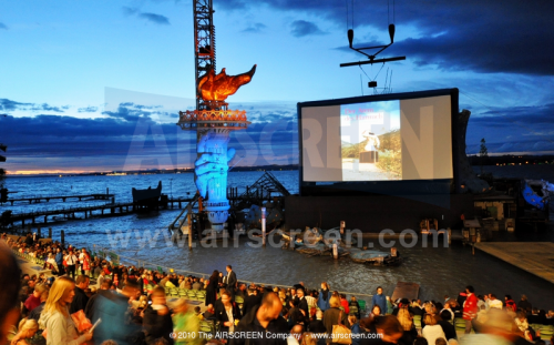 Outdoor cinema by the sea