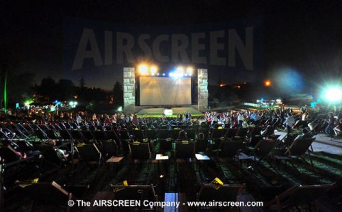 The largest open-air cinema screen in spain