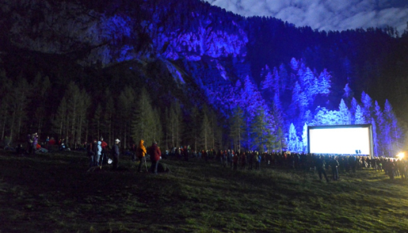 Inflatable screen in Austria