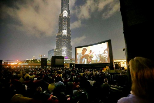 Outdoor cinema at the Dubai International Film Festival