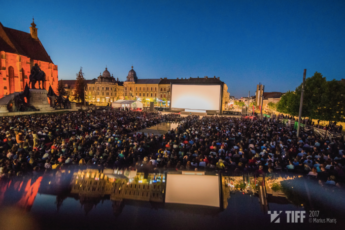 Outdoor cinema Romania TIFF Cluj AIRSCREEN